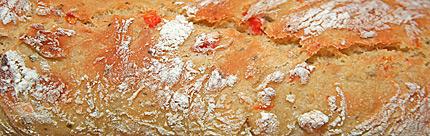 Herb Sweet Pepper Bread crust.