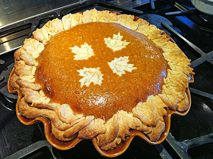 Finished pumpkin pie.