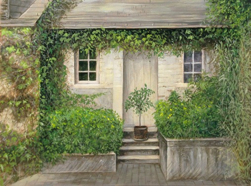 The White Door, Loire Valley, France. Oil on board, 9 x 12 in. ©Patrick J. Lynch, 2017. All rights reserved.