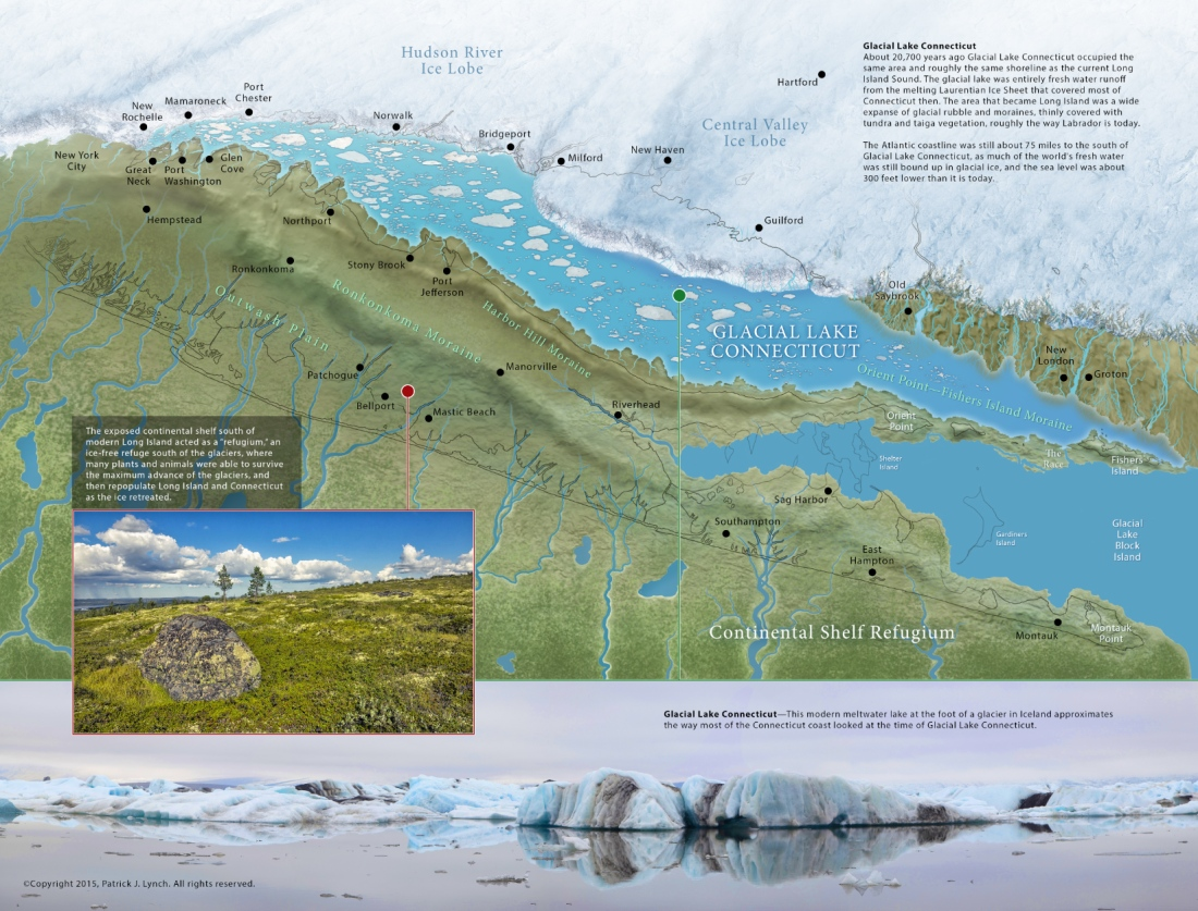 Glacial Lake Connecticut map – Patrick Lynch