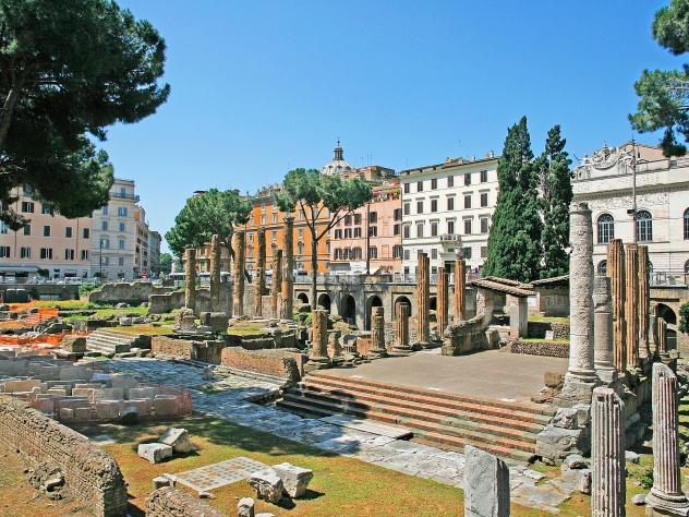 Largo di Torre Argentina, site of Julius Caesar's murder.