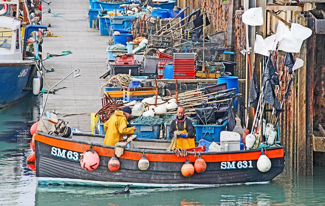 Fishermen, Brighton Harbor, UK. ©Patrick J. Lynch, 2017. All rights reserved.