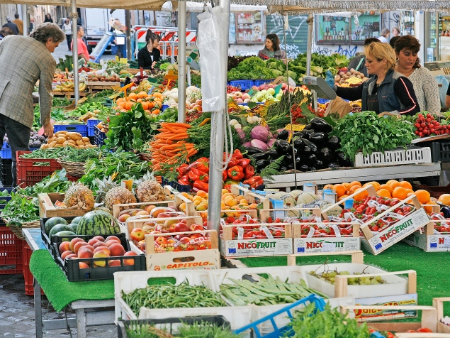The Campo has had a produce market since late Roman times.