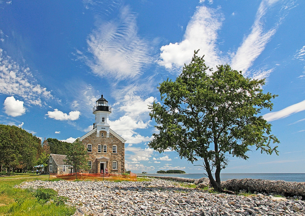 Sheffield Island Light, in the Norwalk Islands.